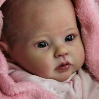 "Soft Vinyl 20"" Reborn Doll Kits Unpainted Vivid Newborn Baby Silicone Blank Mold"