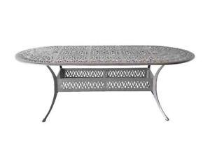 "Patio dining table 42"" x 72"" x 29"" Elisabeth cast aluminum furniture outdoor"