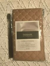 """Charter Club Damask """"Diamond Quilted"""" Beige Cotton Euro Pillow-Sham [New]"""