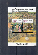 Guyana 2014 Mnh Henri Toulouse-lautrec 150 Nacimiento Anniv 2v S/s Ii Moulin Rouge
