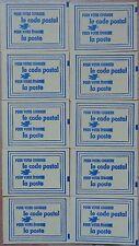 France, lot, série de 10 carnets de vignettes code postal, 33000 Bordeaux