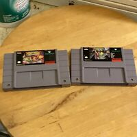 Battletoads in Battlemaniacs & Double Dragon SNES Super Nintendo Original Own
