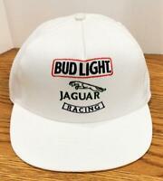 Vintage Bud Light Jaguar Racing White Strapback Hat Cap by Stylemaster USA