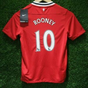 BNWT 2011 2012 OFFICIAL MANCHESTER UNITED HOME SHIRT ROONEY 10 KIDS 10-12 YEARS