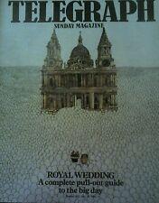 SUNDAY TELEGRAPH MAGAZINE - ROYAL WEDDING - JULY 26 1981