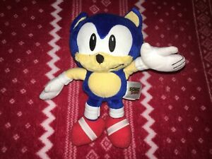 "8"" PROTOTYPE TOMY CLASSIC SONIC Plush Toy Doll 2017 DARK BLUE Sample RARE"