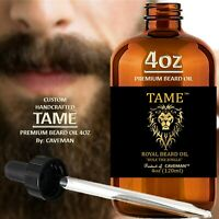 Beard Growth Oil Hair Mustache Facial Grow Natural Men Fast Serum 4oz TAME