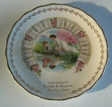 "1911 Advertising Calendar Plate Smith & Brown Quebec Canada 7.25"" D Lot #P13"