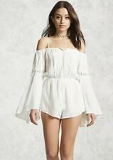 Forever 21 White Bell Sleeve Romper Size S Small Excellent Condition