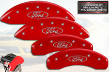 "2009-2019 Ford Flex Front + Rear Red ""MGP"" Brake Disc Caliper Covers STD 4pc Set"