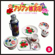 Rare! Re-ment Miniature Asia Grocery No.5 Nostalgia Kettle & Tableware Set