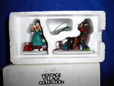 Dept 56 Heritage Village Don't Drop The Presents 55328 2pc Figurine Set