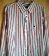 NWT NEW mens size XL white orange blue striped AEROPOSTALE l/s shirt free ship