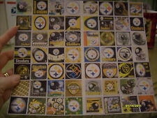 56 DIFFERENT SQUARE PITTSBURGH STEELERS STICKERS