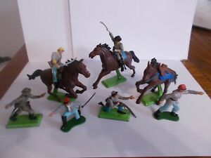 BRITAINS 1971 CONFEDERATE  SOLDIERS AND HORSES.