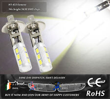LED SMD H1 433 Xenon White Fog Spot DRL Daytime Running Lights Bulbs 12V 24V