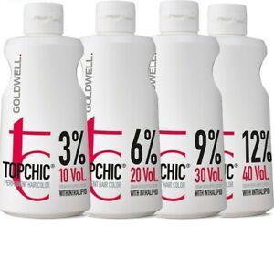 Goldwell Top Chic Cream Developer Lotion Peroxide 1000ml 3% 6% 9%12% Powder