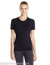 Asics SMALL Inner Muscle Womens Running Compression Top Short Sleeve Black New!