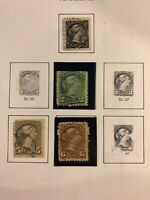 1870 Canada #34 36 38 39 Used H Stamps $70