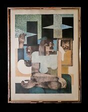 MENA DOLOBOWSKY ARTIST PROOF COLOR LITHOGRAPH TITLE TALL HATS SIGNED & DATED 81