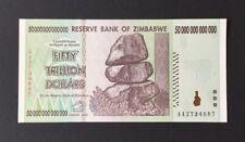 One 50 Trillion Dollar Zimbabwe Note. UNC