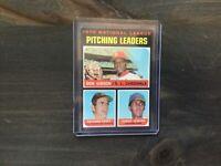 1971 Topps Bob Gibson St Louis Cardinals N.L. Pitching Leaders Baseball Card #70