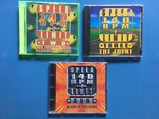 Speed Limit 140 BPM + Vol. 2 3 & 4 Hardcore Techno Music CD Lot Of 3 Discs