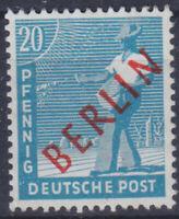 Berlin 26 ** 20 Pfg Rotaufdruck, postfrisch