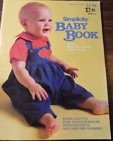 Simplicity BABY BOOK  How to make everything a Baby needs pattern book Vintage