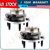 Front Pair 2 Wheel Hub Bearing Assemblies 6 Stud For 2007-12 2013 Silverado 1500