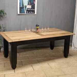 Ancienne GRANDE TABLE DE BISTROT en chêne rectangulaire salle à manger repas