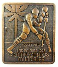 1978 Las Palmas Ice Hockey World Championship Grup C Original Participant medal