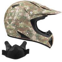 Snowmobile Helmet Snocross Camo With Breathbox Adult DOT Snow Open Face
