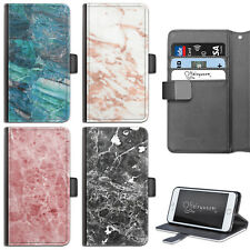 MARBLE PHONE CASE HUAWEI LEATHER FLIP WALLET CASE COVER FOR HUAWEI HONOR, MATE