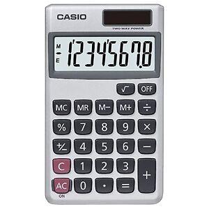 Casio SL-300SV Wallet Style Pocket Calculator, 8 Digit Display