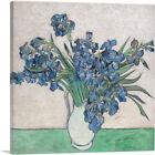 ARTCANVAS Irises in White Pitcher 1890 Canvas Art Print by Vincent Van Gogh