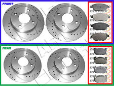 FOR PEUGEOT 306 2.0 GTi GTI6 FRONT REAR DRILLED GROOVED BRAKE DISCS MINTEX PADS