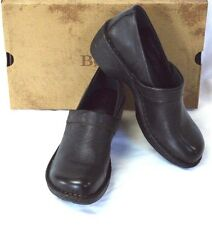 NEW Born Toby Womens 9 40.5 Clogs Leather Slip On Closed Back Medium Heel Career