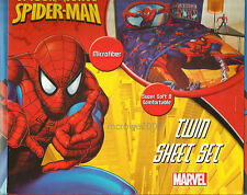 Amazing SPIDER MAN *3pc TWIN Bed SHEET SET Movie Single Marvel Superhero Comics