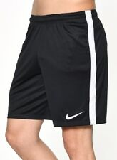 New Nike DRY Men's football/ Squad soccer shorts Size Large/ Black/drawcord