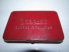 VINTAGE SNAP-ON TOOLS 1/4 DR SOCKET SET WITH CASE OLD LOGO SAE U.S.A.