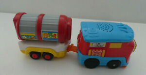 V-TECH TOOT TOOT MOTORISED TRAIN + FREIGHT CARRIAGE  - SOUNDS