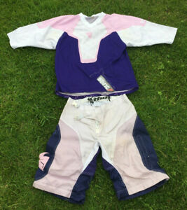 Thor MX Motocross Shorts Jersey Womens Size 9/10 Pink Purple Spring Suit Pockets