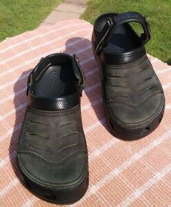 Crocs Mens Yukon Vista Size M10 Grayish Black. GREAT PARTY CROCS!