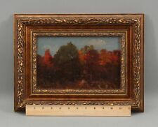 Antique PERCY WOODCOCK Canadian Impressionist Autumn Landscape Oil Painting
