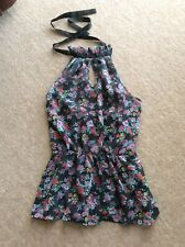 RIDERS BRAND GORGEOUS FLORAL TOP, SIZE 10, LINED