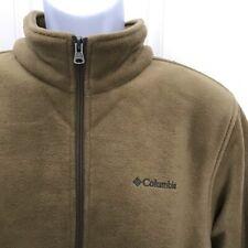 NEW w/Tag-Men's COLUMBIA Cliff Ridge Brown Fleece EXS 1/2 Zip Pullover L