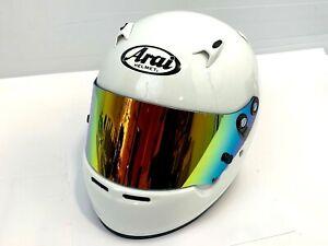 Genuine Arai CK6 Iridium Visor Gold Green Silver Blue - Go Kart Cadet Karting