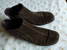 ECCO BROWN SUEDE ANKLE BOOTS SIZE UK 8