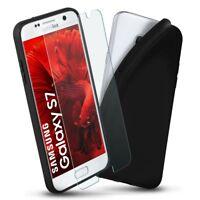 Case + Panzer Glasfolie für Samsung Galaxy S7 Panzerfolie Klar und Schutz Hülle
